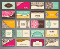 Business card. Vintage decorative elements Stock Photo