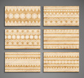 Business card. Vintage decorative elements Stock Photography