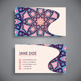 Business card. Vintage decorative elements Royalty Free Stock Photography