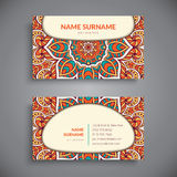 Business card. Vintage decorative elements Royalty Free Stock Image
