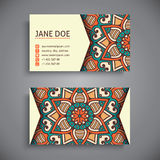Business card. Vintage decorative elements Stock Images
