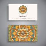 Business card. Vintage decorative elements stock illustration