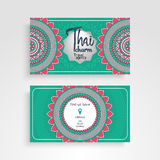 Business Card. Vintage decorative elements. Ornamental floral business cards or invitation with mandala Royalty Free Stock Photography
