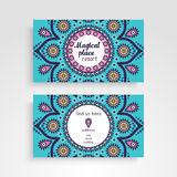 Business Card. Vintage decorative elements. Ornamental floral business cards or invitation with mandala Royalty Free Stock Photos