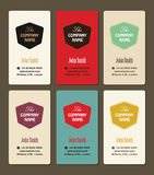 Business card vintage style vector design template Stock Photos