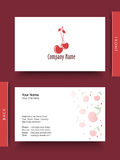 Business card or visiting card. Royalty Free Stock Photography
