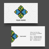Business card or visiting card design. Stock Image