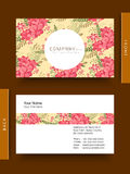 Business card or visiting card. Royalty Free Stock Photos
