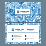 Business card or visiting card template with abstract element lo Stock Photography