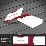 Business card or visiting card template Stock Photo