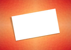 Business card or visiting card template on orange abstract backg Royalty Free Stock Image