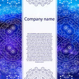 Business card. Watercolor background Royalty Free Stock Photos
