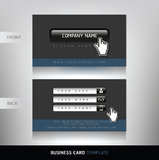 Business Card with Website buttons. Royalty Free Stock Photography