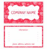 Business card of white cakes Stock Photo