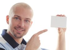 Business card or white sign Stock Photo