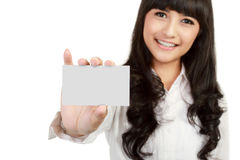 Business card or white sign Stock Photos