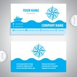Business card - Wind rose symbol - marine Equipment Royalty Free Stock Photography