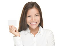Business card woman Royalty Free Stock Image
