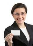 Business Card Woman Stock Photos