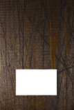 Business Card on Wood Stock Images