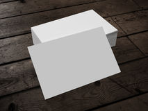 Business Card on Wood. 3d render of Business Card on Wood Stock Images