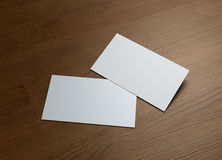 Business Card on wood table 2 Stock Photography