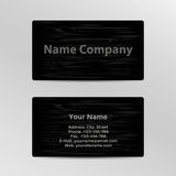 Business Card with Wood Texture Royalty Free Stock Images