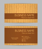 Business card. Wooden design. Set IV. Stock Photo