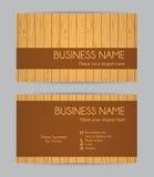 Business card. Wooden design. Set IV. Stock Photo