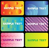 Business card X2.cdr. Business card templates vector illustration Stock Images