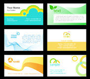 Business-cards-1. Business cards templetes, ready to use Royalty Free Stock Photography