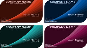 Business cards. Set of modern business cards Royalty Free Stock Photo