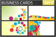 Business cards. Set of business cards templates Royalty Free Stock Photography