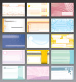Business cards. Design Template for your Business Card, large collection of vector design patterns stock illustration