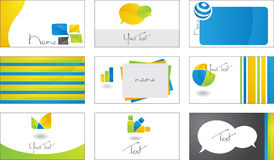 Business cards. Modern business cards with logos. (EPS8 file included Stock Photo