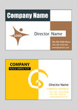 Business cards 2. 2 samples of business card design in vector format, editable Royalty Free Stock Image