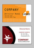 Business cards 4. 2 samples of business card design in vector format Stock Images