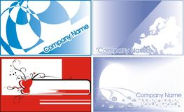 Business cards. 4 set Stock Photos