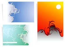 Business cards. Variations for various business card designs Royalty Free Stock Image