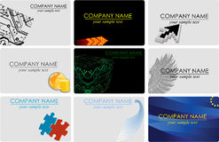 Business cards. Collection horisontal business cards.  See similar in my gallery Stock Photography