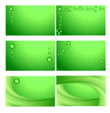 Business cards. A set of green/environmental business cards design vector illustration