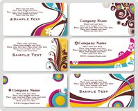 Business cards. Collection of horizontal business cards templates Royalty Free Stock Image