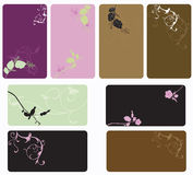 Business cards. Set of business cards with decorative patterns royalty free illustration