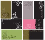 Business cards. Set of business cards with grungy patterns stock illustration
