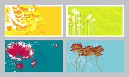 Business cards. Four artistic background for business cards Royalty Free Stock Images
