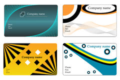Business cards. Collection, vector templates Vector Illustration