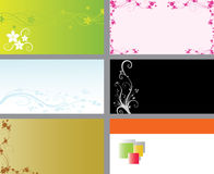 Business cards. Set of floral business cards Royalty Free Illustration