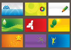 Business Cards. Set of various business cards. You can edit the cards by adding your name and company name Stock Photos