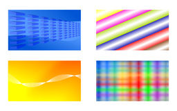 Business cards. Cards abstract colorful modern unique Royalty Free Stock Photos