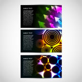 Business Cards with abstract themes Royalty Free Stock Photos